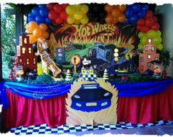 Decora��o de Festa Hot Wheels