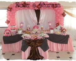 Decora��o Festa Boneca Rosa e marron