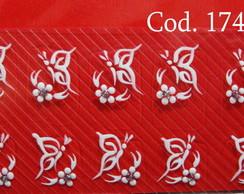 Borboletas com Margaridinhas Cod.174