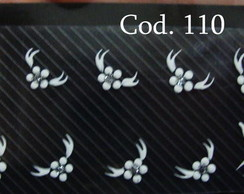 Flores com borboleta branca Cod. 110