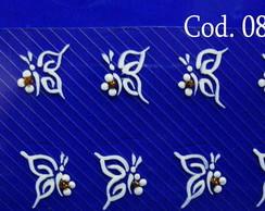 Borboletas brancas c/ dourado Cod.086