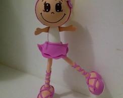 Bonecas bailarinas 3d rosa