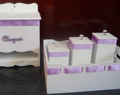 Kit Higiene Luxo Lilas 5 Pe�as