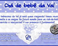 Convite Ch� de beb� Menino 02