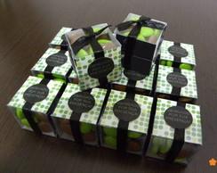 Caixa de Acetato - 3 cm com Recheio