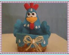 Centro de mesa galinha cesta pintadinha