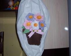 Puxa-saco c/ aplica��o de vaso de flores
