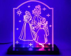 Lumin�ria Personalizada Princesas 2
