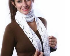 Cachecol de croch� branco