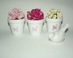 Vasinho de flores  shabby