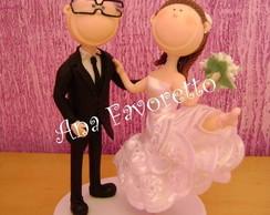 topo de bolo personalizado noiva bailari