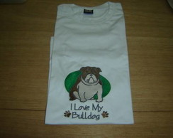 "Camiseta ""I Love My Bulldog"""