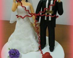 Topo de bolo - Casamento da Gisele
