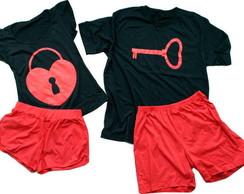 Kit pijamas cadeado + chaves