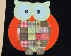 Camiseta em patchwork CORUJA