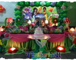 Decora��o de festa tema Tinkerbell
