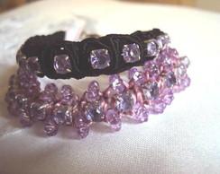 Kit de pulseiras em tom lil�s