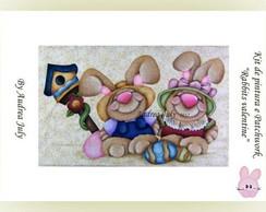 "Kit de Aplic pintura ""Rabbits Valentine"""