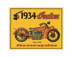 Placa MDF Retr�- Moto Indian - 052