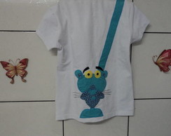 camiseta baby look pantera