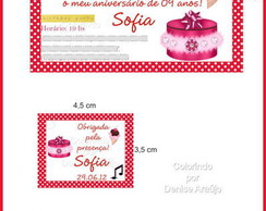 Kit R�tulos e Tags Festa do Pijama