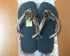 HAVAIANAS TOP +FITA DE CETIM ON�A