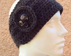 Headband Faixa Croch� Bot�es - Encomenda