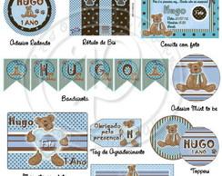 Artes para Festa Ursinho Azul e Marrom