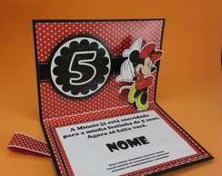 Convite Minnie - Pop-up Simples