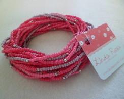 Pulseira Pink, rosa e ros�
