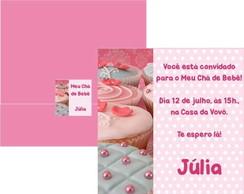 Convite Ch� de Beb� Cupcake