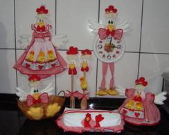 Kit de galinhas para decorar sua cozinha