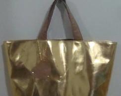 Maxi bolsa dourada!