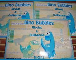 Adesivo Dinossauros - Bolinha de Sab�o