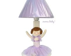 Abajur Bailarina lil�s beb� e infantil