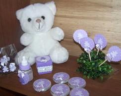 Lembrancinhas e decora��o em Scrap lil�s