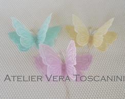 Borboletas de papel vegetal colorido