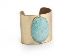 Bracelete Dourado Amazonita