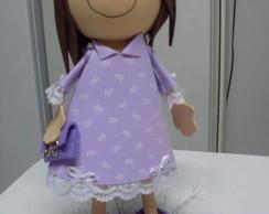 Boneca Vestido roxinho