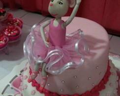 Topo de bolo Angelina Ballerina