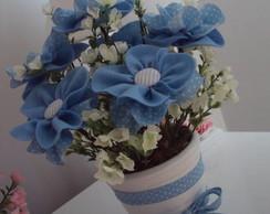Vaso de Flores em Tecido