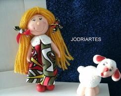 Pota retrato da boneca de pano