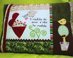 Almofada Patchwork - A medida do amor