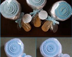 Pirulito de Toalha (lavabo) - Azul