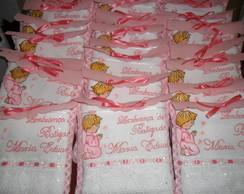 toalha lembrancinha batizado p/ menina