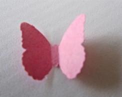 Aplique borboleta - Kit c/ 15 unidades