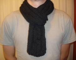 Cachecol masculino em tric� - Preto