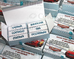 Convite Carros - Caixinha Bis