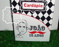 Card�pio personalizado Festa Bigode