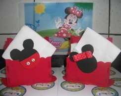 "Porta guardanapo ""Minnie/Mickey"""